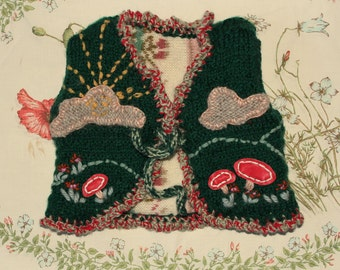 appliqued waistcoat for baby