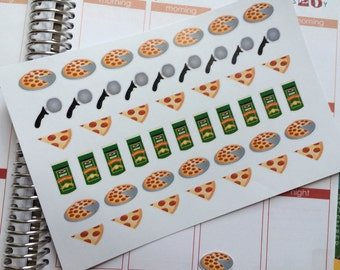 Planner Stickers Pizza Stickers  Perfect For The Erin Condren Life Planner