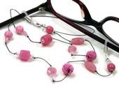 Pink Glasses Chain Eyeglass Chain Reading Glasses Lanyard Glasses Holder Stylish Eyewear Glasses Leash