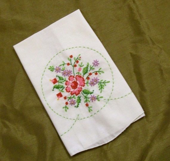 Rose Embroidered Towels: Tea Towel Embroidered Tea Towel Tea Towel With Embroidery