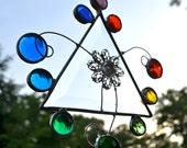Joyous Rainbow Jewels Stained Glass Suncatcher