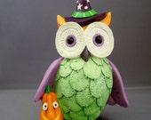 Owl Ready for Halloween? Owl Figurine