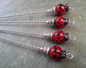 BEST SELLER Lovely Little Ladybugs Martini Picks or Appetizer Skewers