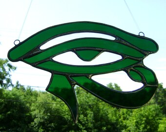 Eye of Ra Eye of Horus Egyptian Stained Glass Christmas Yule Mothers Bridal Birthday Pagan Wicca Original Design©