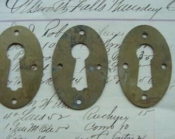 Vintage Antique Escutcheon Skeleton Key Hardware Lot