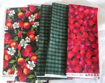 Cherries Fat Quarter Bundle - 5 FQ - Only One