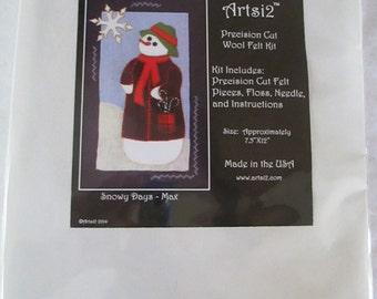 Snowman Wool Felt Kit - Max - Julian - Artsi2 - DIY Kit