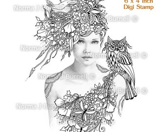 Fairy Tangles Coloring Sheets Amp Digi Digital By