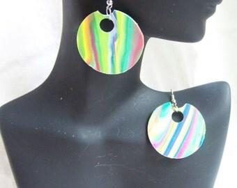 Neon Tie Dye Earrings