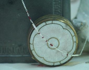 "Morse Code Necklace ""Slave"",  delicate day collar, delicate chain necklace, kinky necklace, Submissive's necklace"