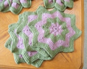 Dusty Rose and Dusty Green Placemats and Hot pads