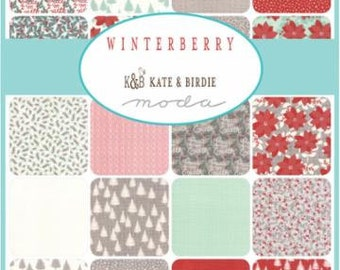 WINTER SALE - Winterberry - Jelly Roll - 13140JR - by Kate and Birdie for Moda Fabrics