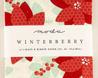 WINTER SALE - Winterberry - Charm Pack - 13140PP - by Kate and Birdie for Moda Fabrics