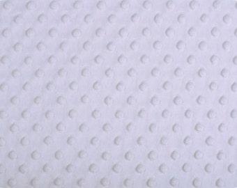 Snow Minky Dot, 1 HALF yard, Shannon Fabrics