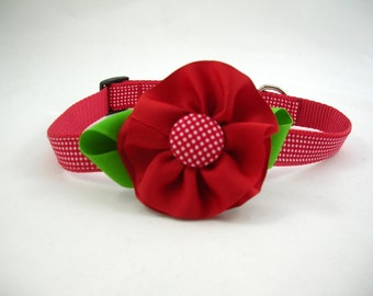 Girl Dog Collar with Flower