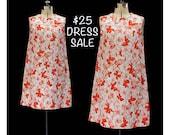 SALE! Vintage 60s Butterfly Flutterby Dress