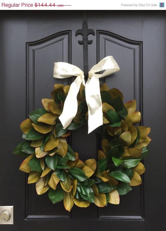 Magnolia Leaf Wreath: ON SALE XL Magnolia Wreath Magnolia Leaf Wreath By