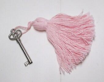 Pink Tassels 4-12 Cotton Drapery Upholstery Pastel Cotton Bell Tassels Lg Furniture Key Fob Pillow Trim Home Decor lot Baby Gift Trim Tassel