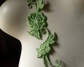 Lime Flower Appliques for Headbands, Costumes Iron On IRON 44l