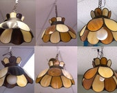 Classic 50s Curved Glass Panel Lamps