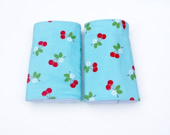 Drool Pads, Suck Pads, Teething Pads, Ergo, Tula, Beco, Boba, Mei Tai, Waterproof, Absorbent Cotton, Carrier Straps, Modern, Cherries