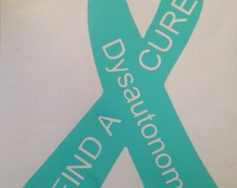 Dysautonomia find a cure decal