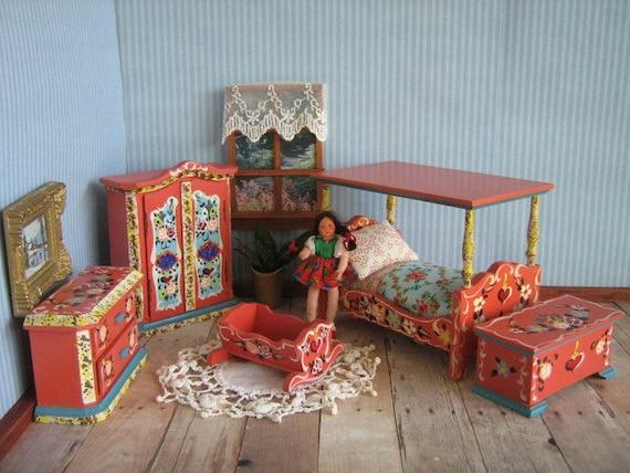 vintage miniature dora kuhn bedroom furniture 5 piece set
