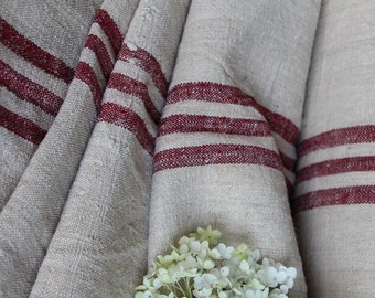C 411  antique handloomed RASPBERRY 12.24yards perfect for tablerunner curtains cushions