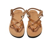 SALE - 30% OFF - Caramel Mix Leather Sandals for Men & Women -- EURO # 40