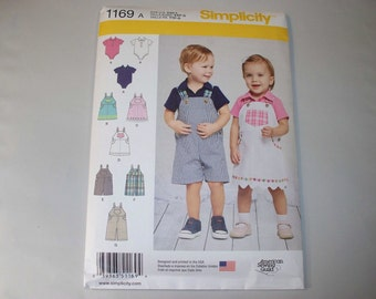 New Simplicity Baby Clothes Pattern, 1169 (Free US Shipping)