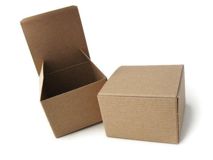 12 boites cadeau carton kraft recycl emballage pour bijoux - Emballage cadeau boite carton ...