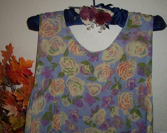 Vintage 80's Reversible Blue Print Grung Dress size xl