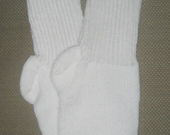 New Warm and Soft Hand Knit Socks (11.0 inches length)