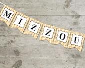 Mizzou Chevron Printable Banner for Missouri Fans