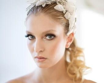 Wedding Headpiece, Lace Headpiece, Bridal Lace Hair Accessory