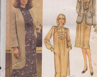 Vogue 8098 Misses' Dress and Jacket Size 12 Vintage UNCUT Pattern