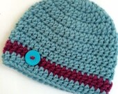 Newborn girl 0-3 months baby hat beanie stripe infant hat baby photo prop Ready To Ship