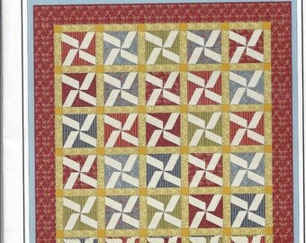 Sale!  Windy Day quilt pattern (WDZZR) - The Cotton Cottage Press