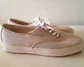 RESERVED FOR L A U R E N   vintage KEDS sand jute ready to wear sneaker shoes 7.5 8