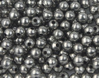 NEW New 100 pcs of Stainless Steel Round Spacer Beads - 3mm