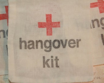 Hangover Kit Bags, 100 DIY Hangover Bags, Wedding Favor Bags,Survival Kit,  Bachorlette Party, Bachelor Party