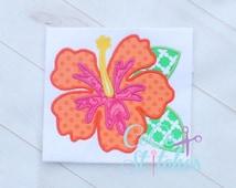 Hibiscus Embroidery Applique Design