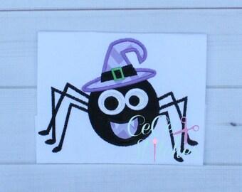 Silly Spider Halloween Applique Design