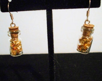 Gold flake Earrings
