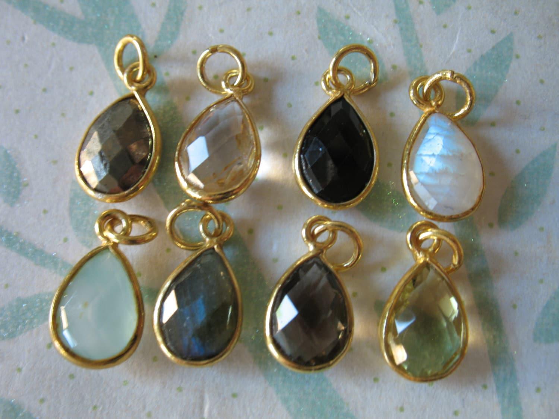 gemstone pendant gemstone charm bezel charm pendant 1