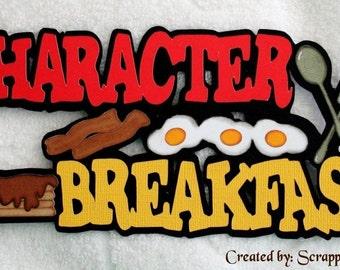 DISNEY Character Breakfast Die Cut Title Scrapbook Paper Piece - SSFF