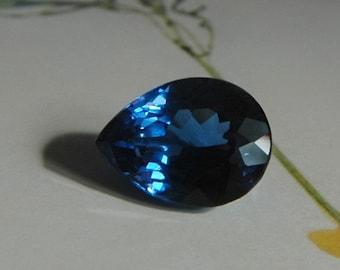 London Blue Topaz Fancy Pear Cut - UNDRILLED
