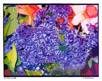 Archival Digital Print of Hydrangea and Bulbs