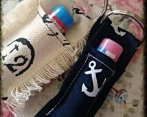 Chapstick Holder, Lip Balm Holder, Chapstick Keychain, Lip Balm Keychain