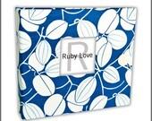 Blue Java Vines Baby Book - Modern Baby Memory Book